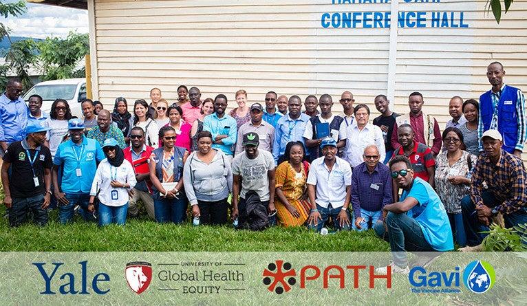 Group photo in Rwanda