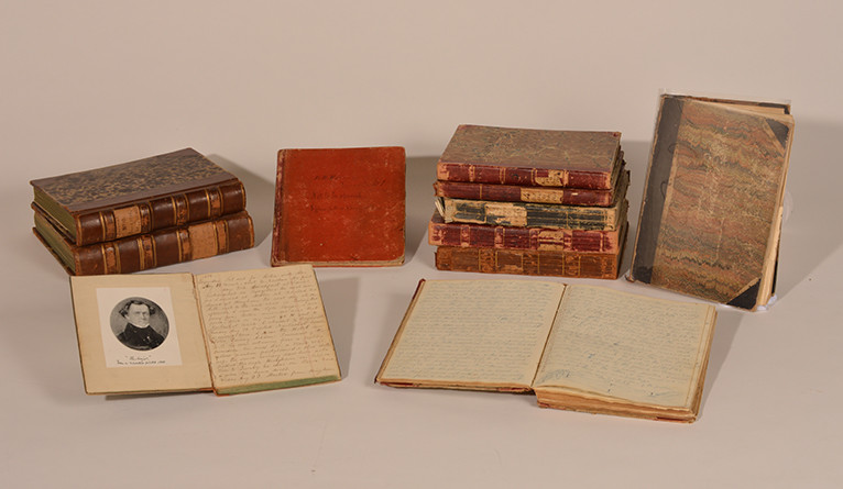 Benjamin French's portrait and diaries.