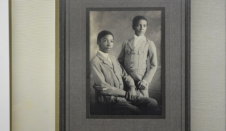 Photograph of Earl and Vernon McDonald as yoiungsters