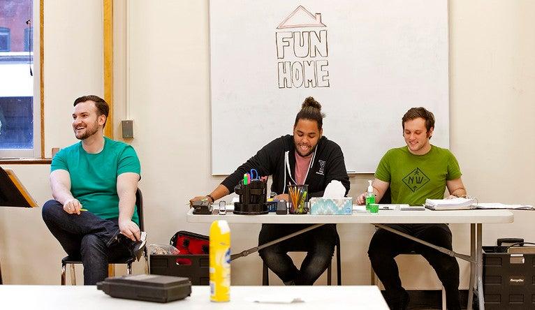 """""""Fun Home"""" director Gambini during a rehearsal"""