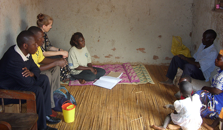 Home-based counseling and testing for an NIH-funded study in Kenya.