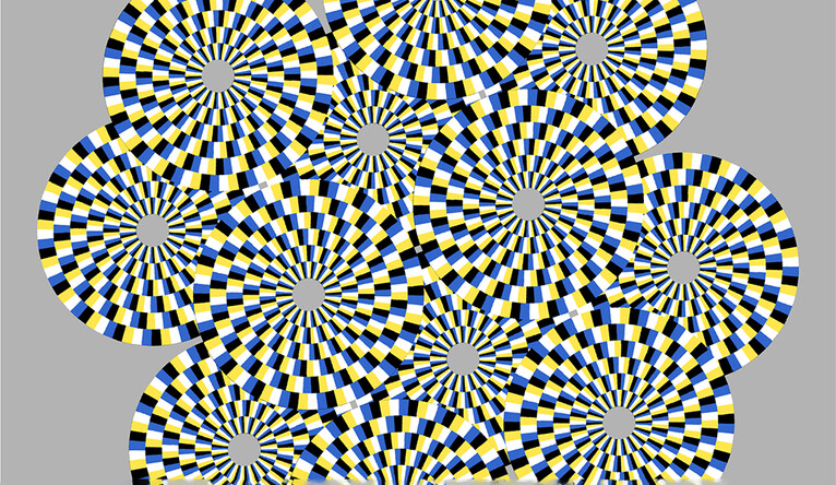 optical illusions eyes illusion fly explained circles directions blink move stationary viewers rotating should different viewer pronounced particularly effect infosurhoy