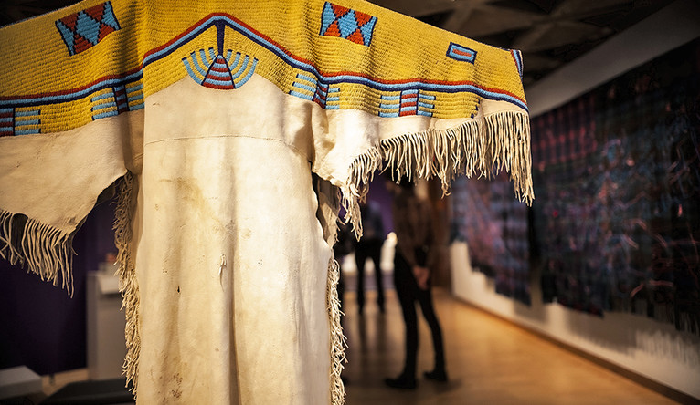 Native American clothing on display