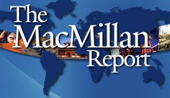 "Logo for ""The MacMillan Report"""