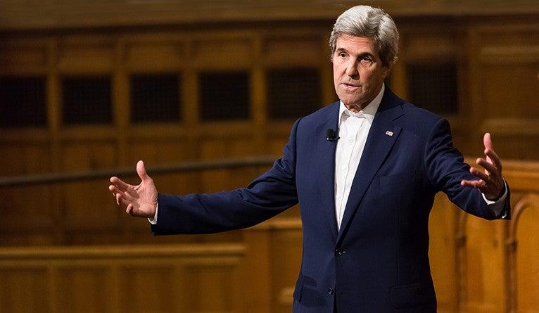 Photo of former U.S. Secretary of State John Kerry '66