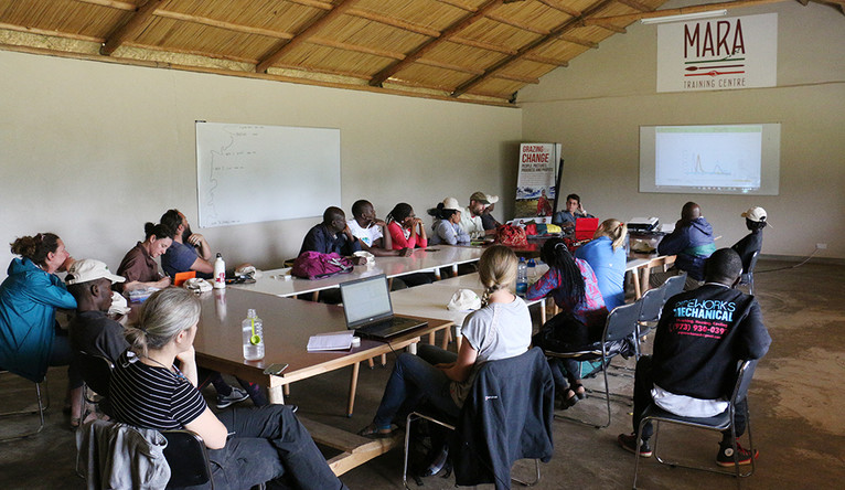 Students in a Mara Project classroom in Kenya.
