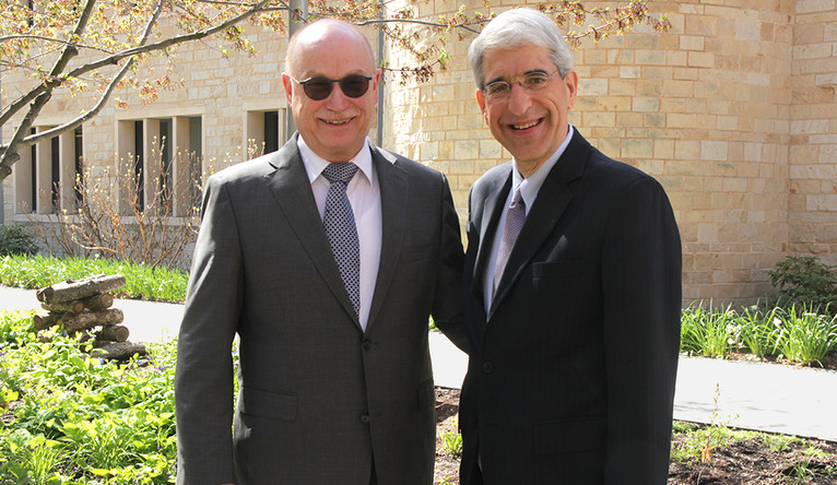Martin Stratmann, president of the Max Planck Society, and Yale President Peter Salovey.