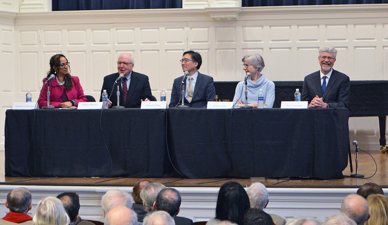 Photo of first panel at Assembly & Convocation