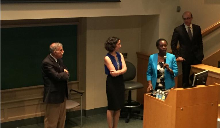 Asghar Rastegar, Harriet Mayanja-Kizza, Tracy Rabin, and Gary Desir