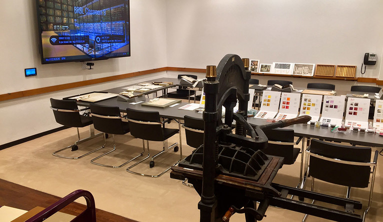 Image of a state-of-the-art classroom in the Beinecke.