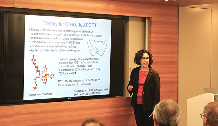 Sharon Hammes-Schiffer presents at the Yale Science and Engineering Forum.