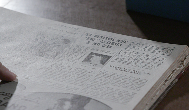 A newspaper in the Gilmore Music Library collection.