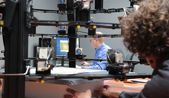 Scientists testing the Vinland Map at at Yale's IPCH's laboratories.