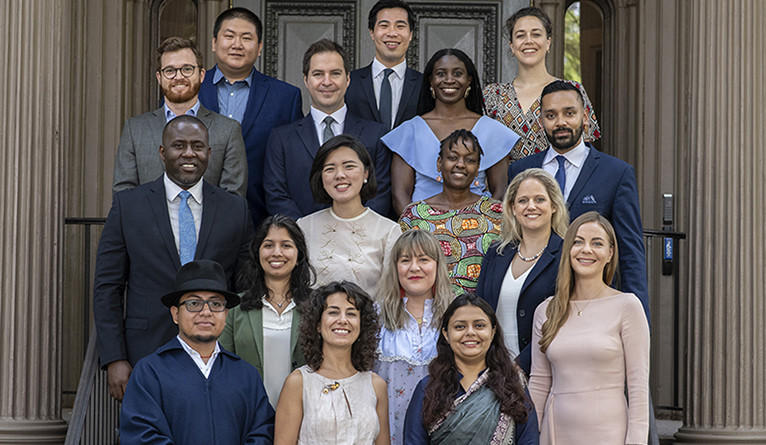 The 2019 class of Yale World Fellows