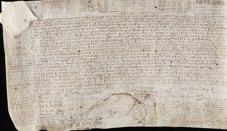 An antique Dutch bond issued in 1648