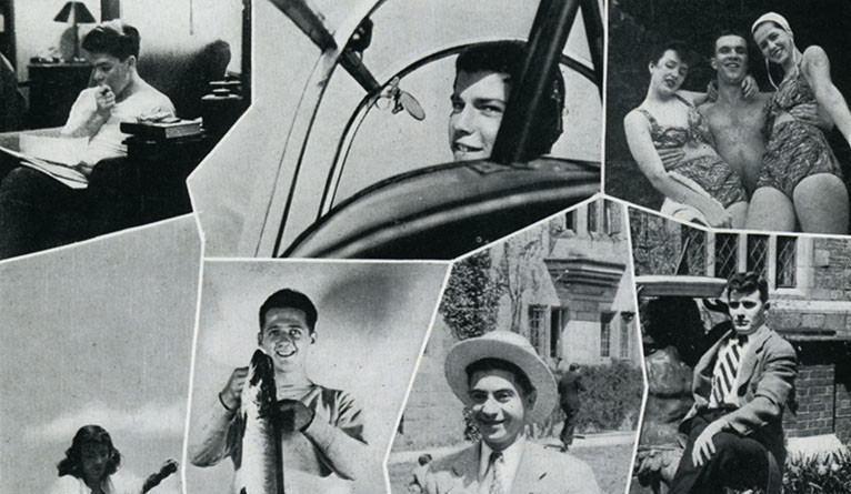 A photo collage from the 1948 Yale Class Book.