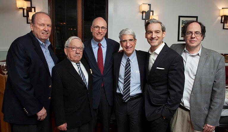 Bradford Gray, Joseph LaPalombara, Donald Green, Yale President Peter Salovery, Jacob Hacker, and Alan Gerber.