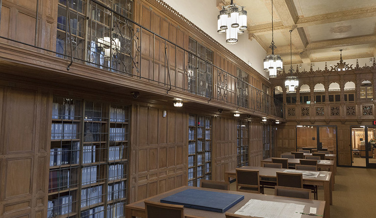 The newly renovated reading room at Yale's Manuscripts and Archives Department.