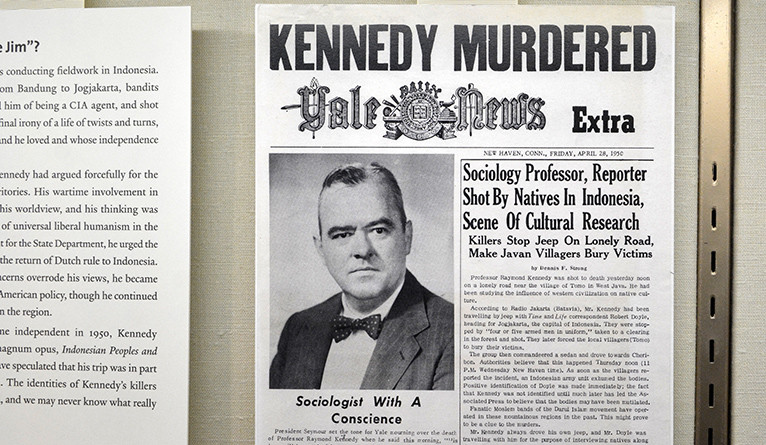 "Front cover of Yale Daily News with the headline ""Kennedy Murdered"""