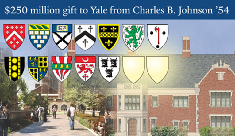 $250 million gift to Yale from Charles B. Johnson '54
