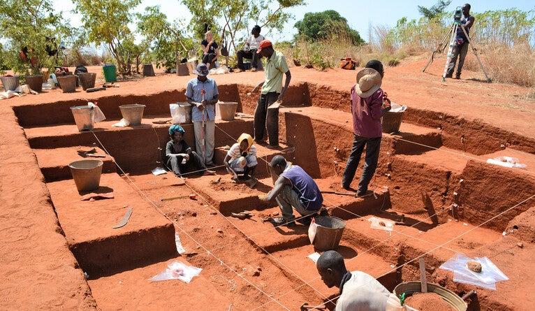 Excavations site.