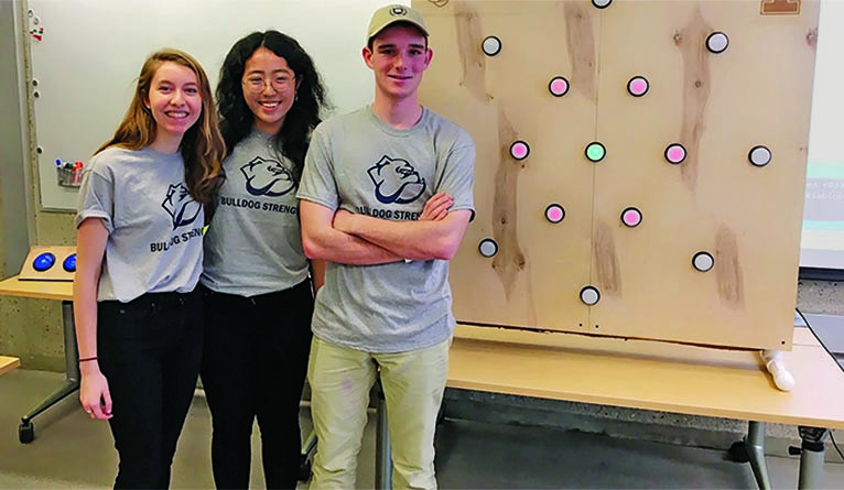 Mary Clare McMahon '21, Cece Gao '21, and Jacob Asher '21.