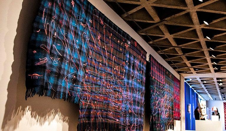 textiles by Seneca artist Marie Watt