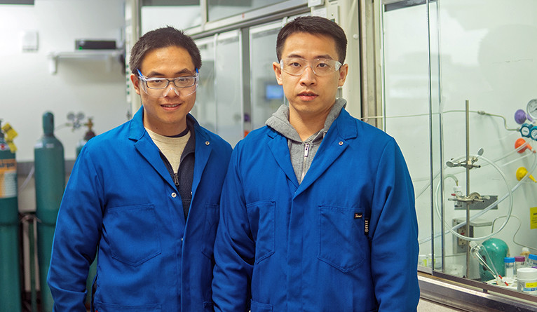 Yueshen Wu (left) and Xu Lu, co-authors of the new study