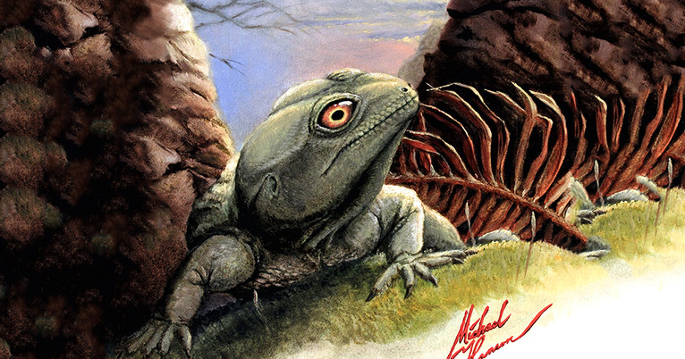paleontologists put the bite on an ancient reptile from