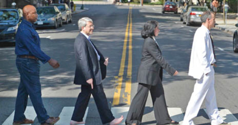 Abbey Road At Yale Promoting Pedestrian Safety Yalenews