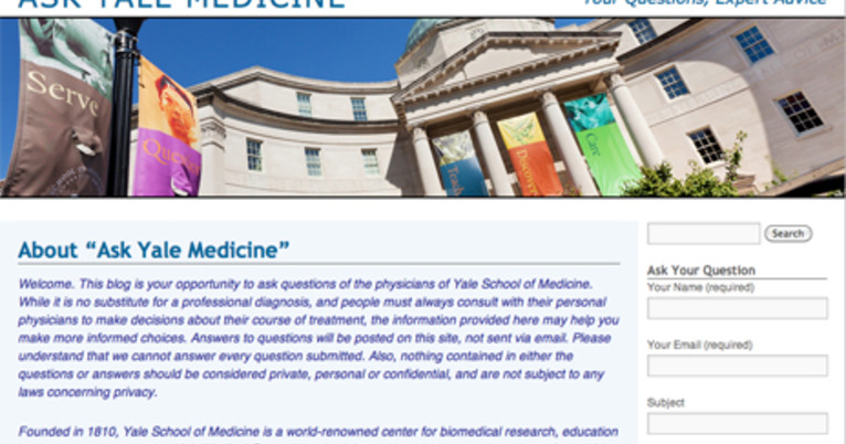 Answering your health questions: Yale Medical Group launches