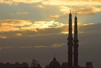 Minarets at dawn in Cairo