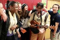 RULER high school students enjoying each other's company.