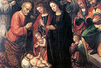 "A photo of the painting ""Natività,"" by Bernardino Fasolo."