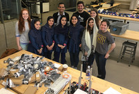 The Afghanistan girls robotics team visiting Yale in May 2018.