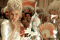 """A still from the film """"Marie Antoinette,"""" showing the French Queen at a party.."""