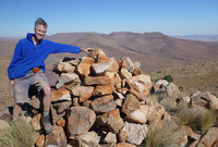 Professor David Evans on top of Aruab Mountain in southern Namibia.