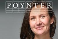 Alison Snyder with the Poynter Fellowship logo