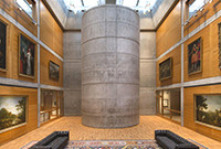 A gallery at the Yale Center for British Art.