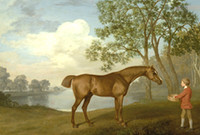 """Photo of the painting """"Pumpkin with a Stable-lad"""" by George Stubbs."""