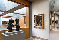A gallery in the Yale Center for British Art.