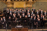 A photo of the Yale Concert Band on stage.