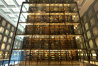 A stack of books at the Yale Beinecke Library.