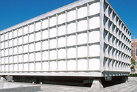 Exterior of the Beinecke Rare Book and Manuscript Library at Yale.