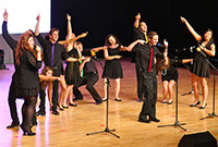 A photo of the a cappella group Mixed Company.
