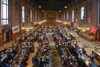 View of University Commons filled with lunchtime diners