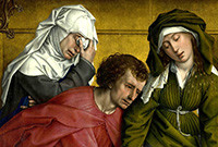 "Detail from ""Descent from the Cross"" by the Flemish artist Rogier van der Weyden."