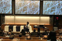 Desirée Plata participates in the Tech Pitch Contest at the Yale Innovation Summit May 9.