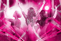 """Three female actresses in the musical """"Dreamgirls."""""""