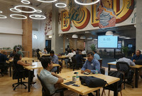 A speed mentoring session for early stage startups with industry experts at The CoWrks Foundry in India.